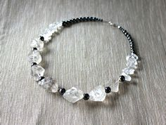 Necklace with rock crystal, hematite and silver from Especially for You available on http://en.dawanda.com/shop/Especially-4-You