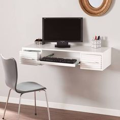 fold away wall floating desk - Google Search
