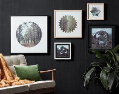 Nature meets geometric forms in this exclusive affordable art collection…