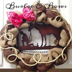 Praying cowboy western wreath by TheLittleChandelier on Etsy Western Crafts, Western Decor, Western Theme, Cowboy Western, Western Style, Western Wreaths, Country Wreaths, Fall Wreaths, Door Wreaths
