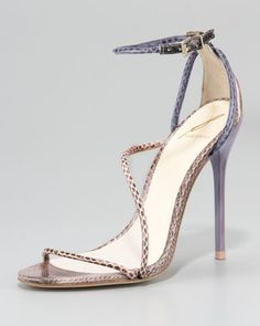 B Brian Atwood - a wonderful evening sandal to wear with a variety of colors.