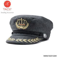 Military Hat Winter Knitted Cap British Style Beret For Women Black Grey  Male Female Casquette Militaire Gorra Plana. Sombreros Para Mujeres ... 232a787f6f2