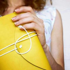 Beautiful mustard yellow journal with pastel yellow pages inside...a perfect journal for the summer adventures...