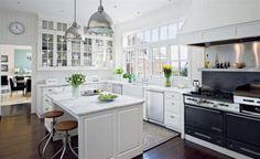 white kitchens | Luxury white kitchen design trend 2011 white italian kitchen