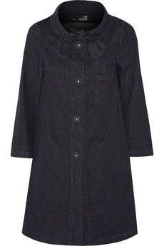 Love Moschino Stretch-denim coat | THE OUTNET