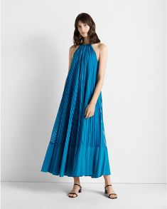 Burnout Pleated Maxi Dress Club Monaco, Casual Day Dresses, Dress Outfits, Fashion Dresses, Jumpsuit Dress, Belted Dress, Dress Up, Corsage, Nylons