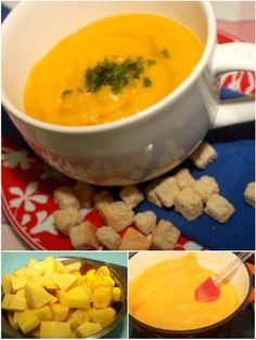 Sopa Creme de Mandioquinha com Alho Poro, pronta em 15 minutos feita numa panela só