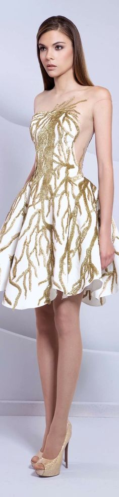 More white and gold Nice Dresses, Short Dresses, Prom Dresses, Dresses 2016, Dress Prom, Formal Dresses, Glamour, Love Fashion, High Fashion