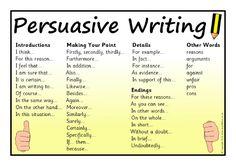 Persuasive writing word mat (SB10598) - SparkleBox