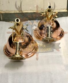 Nautical Marine Cargo Smooth Brass & Copper Pendant/Ceiling/Wall/Hanging Light Lot Of 2 Wall Hanging Lights, Nautical Lighting, Nautical Marine, Brass Pendant Light, Wall Mounted Light, Solid Brass, Copper, Etsy, Brass