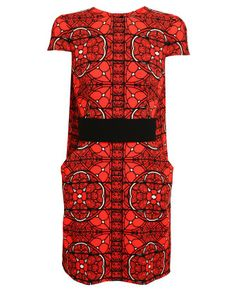 ALEXANDER MCQUEEN   Stained Glass Printed Wool Dress with Belt £1,945 / 2,814,000won