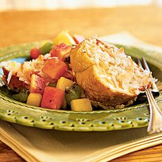 Cooking Light. Baked Coconut French Toast with Tropical Fruit Compote Recipe
