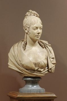 Jean-Marie Nogaret French, active c. 1800 Bust of a Young Woman 1802 Terracotta on marble base Height: 28 in. (71.1 cm)