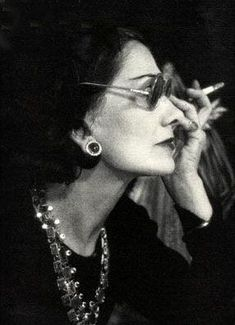 1937 - Coco Chanel, age 54..fabulous!