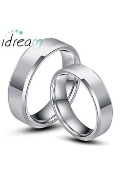 Personalized Matching Tungsten Wedding Bands Set For Men Women Idream Jewelry