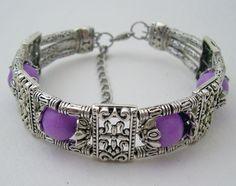 Purple Tibet Silver Bracelet
