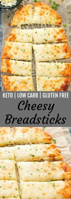Diet Snacks These cheesy breadsticks are keto, low carb and gluten free. They are ready in about 30 minutes! - These cheesy breadsticks are keto, low carb and gluten free. They are easy to make and ready in about 30 minutes. MOZZARELLA CHEESE AND. Ketogenic Recipes, Diet Recipes, Cooking Recipes, Recipes Dinner, Recipies, Appetizer Recipes, Cooking Cake, Dessert Recipes, Chicken Recipes