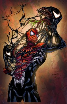 Spiderman art | spiderman_vs__venom___colored_by_ladyorange-d5b9rgc.jpg