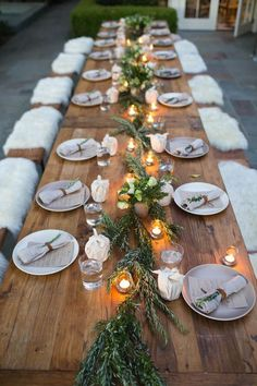 Natural tablescape.