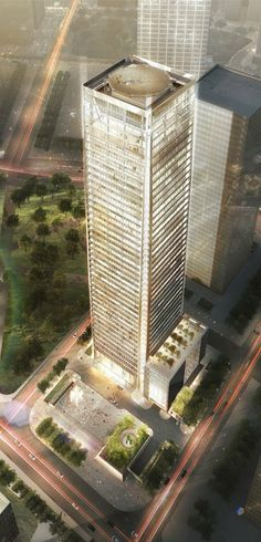 Chongqing Rural Commercial Bank Financial Building, Chongqing by Skidmore Owings & Merrill (SOM) Architects :: 42 floors, height 218m