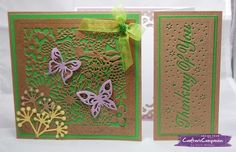 Gatefold Card made using Crafter's Companion Die'sire Create a Card die Country Garden & Thinking of You. Designed by Rachel Webber #crafterscompanion