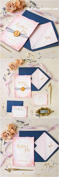 Wedding invitations #4lovepolkadots #weddinginvitations #invitations #weddingstationery #whimsicalwedding #weddingtheme #pinkwedding