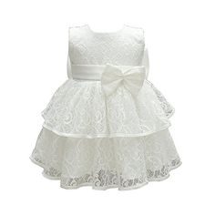 25db4bd752a ZAMME Baby Girl Dresses Pageant Bow Formal Baptism Dress Best Halloween  Costumes   Dresses USA