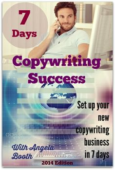 """Copywriter and writing teacher Angela Booth's copywriting-business building program, """"Seven Days To Easy Money: Copywriting Success"""" helps copywriters to deal with the complex marketing environment of Writing Courses, Writing Advice, Blog Writing, Creative Writing, Writing Prompts, Professional Writing, Blog Love, Work From Home Jobs, Copywriting"""