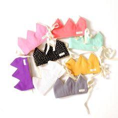 by Tres Cher  Reversible fabric crowns  DETAILS: 100% premium cotton Machine washable