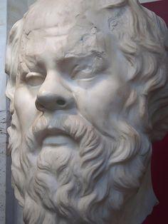 Greek Philosopher Socrates 1st century CE Roman replica of 4th century BCE Greek original