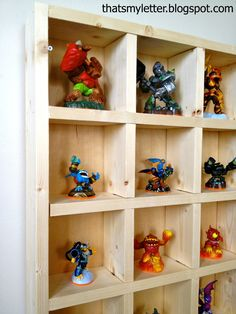 Build: Skylanders storage shelf  Build the perfect cubby storage shelf for Skylanders (or any play figurines) using modified cubby shelf plans from Ana White. Each Skylander has its' own cubby slot, the giants just fit into the 5″ x 5″ space and there's even enough room to double up once the collection grows. The... Read more