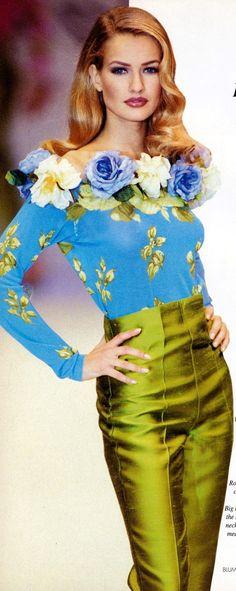 Karen Mulder | Blumarine | 90's Supermodel