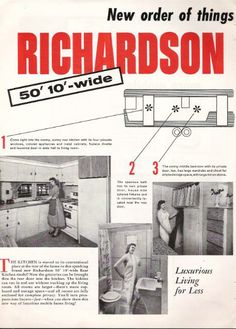 Image detail for -Vintage Literature Reproductions : 1958 Richardson Mobile Home ~ RV ...
