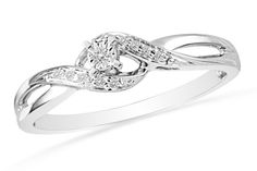 HOT deal on this Miracle Set Diamond Sterling Silver Promise Ring that is normally $129.99 but today is only $12.99!
