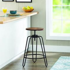 Better Homes and Gardens Adjustable-Height Spin Stool - Walmart.com $39.92