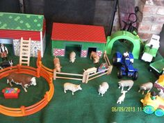 Fun on the Farm! Lots of maths play happening in the small world area.