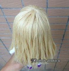 Как сделать волосы куколке амигуруми (12)