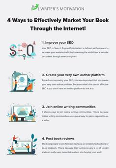 If you are thinking of marketing a book of your very own, it is imperative that you know how to use the internet effectively and efficiently.  #marketing #bookmarketing #bookmarketingtips #authors #authortips Marketing Process, Search Engine Optimization, Authors, Create Yourself, Writer, Internet, Content, Motivation, How To Plan