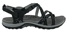 Merrell Womens Jacardia SandalBlack9 M US ** Continue to the product at the image link.