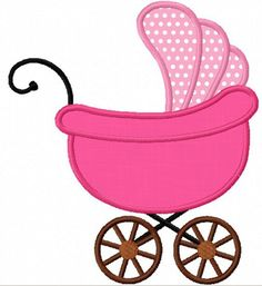 Baby Carriage Applique Machine Embroidery by JoyousEmbroidery, $2.99