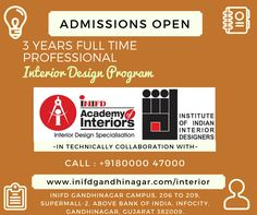 Learn from the leaders, -Over 22 Years of Design Education Experience,  -Largest Global network of Interior Design Institutes. -Collaborative Professional Programs with IIID. Know more: http://www.inifdgandhinagar.com/interior/ #interior #InteriorDesign