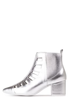 Jeffrey Campbell Shoes REQUIEM New Arrivals in Silver. ~ These r so Harry Styles-esque, gotta have 'em!