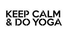 KEEP CALM AND DO YOGA Mantra Craft Stencil