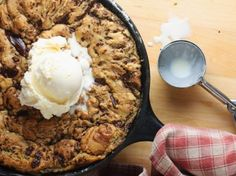 One-Pan Dark Chocolate Chunk Skillet Cookie | Tasty Kitchen: A Happy Recipe Community!