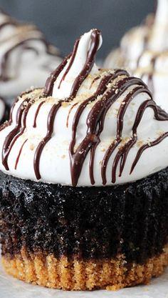 Smores Cupcakes .
