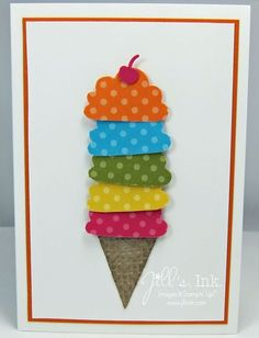 Ice Cream Cone Birthday Card by Jill Franchett