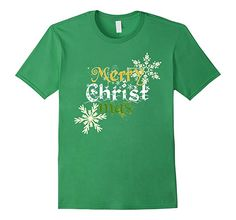 Christian Merry Christmas shirt. Christmas Holiday shirt to spread the christian spirit this season. Show your faith and love for Jesus. Inspire people around you with this christian message t-shirt. Perfect gift to wear at church, trip missions, bible class and Christmas parties.