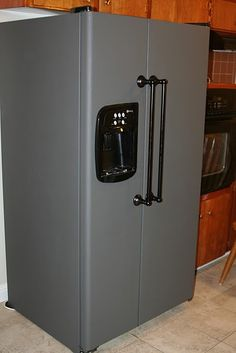 Chalkboard FRIDGE! Yep this is my husbands next project!!
