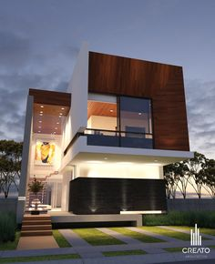 Our Top 10 Modern house designs – Modern Home Modern House Facades, Modern Architecture House, Modern House Design, Architecture Design, Style At Home, Future House, My House, Modern Tropical House, Modern Contemporary Homes