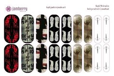 I will be placing an order for this Walking Dead inspired Jamberry Nail Art Studio design! If you'd like a sheet, message me at NottyourAverageNails@gmail.com Don't miss out on these for the New Season of the Walking Dead!